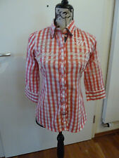 Soccx by Camp David, Bluse, Damenbluse, rot kariert, Gr. XS, Original