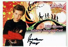Charlie & the Chocolate Factory Autograph Card Jordan Fry as Mike Teavee