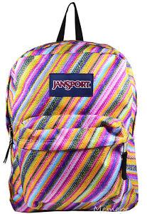 NWT JANSPORT Superbreak Backpack Book Cool School Bag Multi Texture