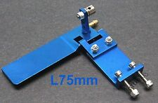 L75xW45mm CNC T6061 Alum Alloy Boat Rudder with Water Cooling, Blue US038-05301B