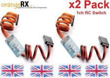 RC Receiver Operated Electronic On Off Switch Remote Control Switch LEDs X2 PACK