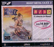 HEAVY METAL FAKK 2 pc cdrom fakk2 f.a.k.k -ITALIANO !-nuovo SIGILLATO