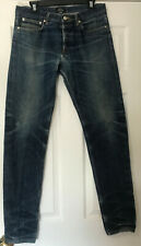 APC Petit Standard Distressed Selvedge Denim Jeans Size 32 Faded Destroyed