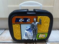 Star Wars Thermos R2-D2 & C-3P0 Hard Case Plastic Lunch Box RARE