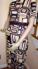 NWT EMILIO PUCCI Ultra Modern Brown/Black/White Print Dress 6