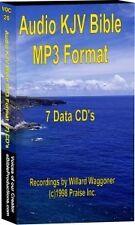 MP3 KJV Holy Bible on 7 CD's Chapter Stereo Audio 75Hrs