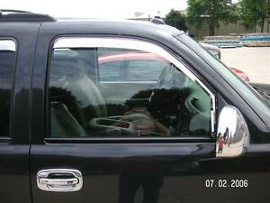 Putco Chrome Front 2 Piece Window Wind Deflectors Vent Visors Rainguards 480010