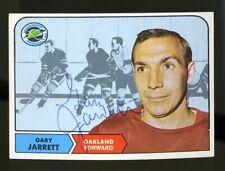 1968-69 Topps #87 GARY JARRETT Autograph/Auto Card Oakland Seals