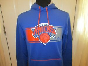 New York Knicks Size Adult Small Adidas NBA Men's Climawarm Hooded Sweatshirt