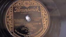 Al Jolson - 78rpm single 10-inch – Brunswick #4033 There's A Rainbow 'Round My..