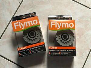 Lot de 2 bobines de fil pour débroussailleuse coupe bordure Flymo FLY021 NEUVES