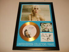 LADY GAGA   SIGNED  GOLD CD  DISC  NEW