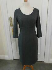 Artigiano Size 12 Grey Shift Dress 3/4 Sleeve