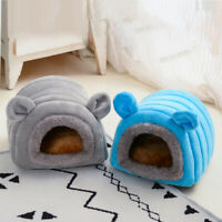 Rabbit Guinea Pig Cage Small Animal House Warm Nest Hamster Sleeping Bed