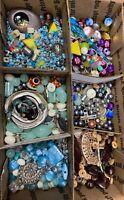 HUGE Lot Beads/Jewelry Making Supplies Kids Craft 1 + Pounds US Shipper Free B-2