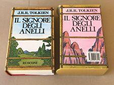JRR Tolkien - IL SIGNORE DEGLI ANELLI - cofanetto Rusconi 1989 con mappa