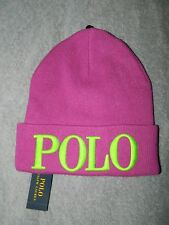 Ralph Lauren Polo Knit Beanie Hat Purple One Size NWT! $48