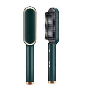Professional Hair Straightener Tourmaline Ceramic Hair Curler Brush Hair Comb