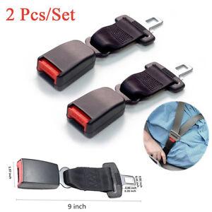 "2X 9"" 22CM Car Seat Belt Extender Automotive Seatbelt Extension Safety Belt Clip"