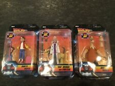 """Back To The Future Neca Action Figures Biff, Marty and """"Doc"""" Brown with Einstein"""