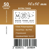 MTL Card Sleeves THICK TS80: Size 80x80 50 PCS 7th Continent, Jungle Speed,...