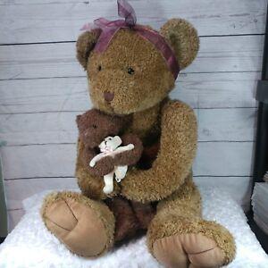 Tri Russ International Jumbo bear plush mommy teddy bear with baby bear 794123
