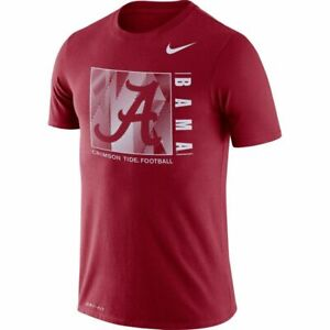 NIKE ALABAMA CRIMSON TIDE T-SHIRT TEE XXL 2XL TEAM-ISSUE DRIFIT ROLL TIDE JERSEY