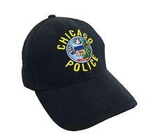 Chicago POLIZIA Logo Blu Scuro 100% Cotone Adulti Berretto Regolabile