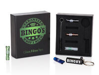 Bingos Glass Filter Tips kit. Stoner Gift with Keyring and Cleaning brush