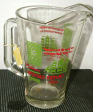 Heilemans' Special Export Beer Pitcher Glass Green Label