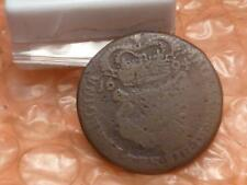 1694 William and Mary Hibernia Halfpenny Colonial Coin Clear Date Rare #AD