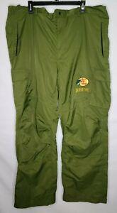 Bass Pro Shops Bone Dry Rain Pants Overalls Green hunting, fishing, 3XLT XXXLT