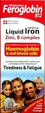 2x Vitabiotics Feroglobin B12 Liquid Iron 200ml