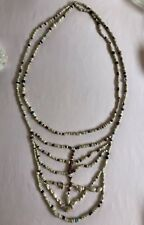 ❤️MUSEUM❤️ 1600's Native American Cornaline d'Aleppo Beads Breast Plate Necklace