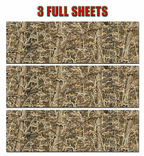 """3 CAMO DECALS MADE FROM 3M WRAP VINYL 48""""x15"""" TRUCK CAMO FISHING LURE CAMOUFLAGE"""