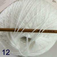 Thread No.8 Cotton Crochet Thread Yarn Craft Tatting Knit Shawl Lace 50g/400y 12