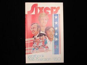 1974-75 Philadelphia 76ers Basketball Yearbook