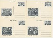 Poland prepaid postcard (Cp 210 b) WARSAW old town (set of 10 pcs)