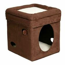 Plush Soft Cat Pet Bed Kitty Playing House Condo Indoor Outdoor Warm Shelter Coz