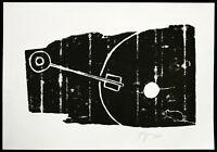 """""""Schlüssel im Holz"""", 1995. Grosser Holzdruck Felix DROESE (*1950 D) handsigniert"""