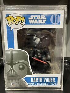 Darth Vader #01 Star Wars Blue Box Funko Pop Vinyl + Hard Protector