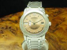 Bucherer Archimedes GMT Edelstahl Automatic Chronometer Herrenuhr / Ref 2892.505