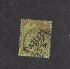 FRENCH POLYNESIA - TAHITI - 11 - USED - 1893 - O/P ON FRENCH COLONY STAMP