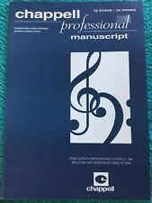 CHAPPELL PROFESSIONAL MANUSCRIPT ~ 12 STAVE ~ 32 PAGES