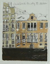 Geisler, stephan (Zorn 1968) - colorierte dibujo Navile grande Venecia 1999