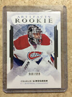16-17 UD Upper Deck Artifacts #180 CHARLIE LINDGREN RC Rookie /999