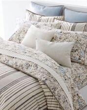Ralph Lauren Home Devon Charcoal Grey Stripe/Floral Reversible King Duvet Cover