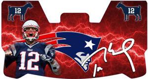 Custom New England Patriots Tom Brady Football Helmet Visor, W/ Unbranded Clips