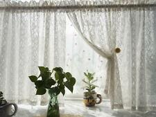 Piece Romantic French Rich Cotton Floral Lace Flower Ivory White Curtain