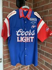 XL Coors LIGHT BEER Pit Crew Shirt Winston Cup Team Sabco